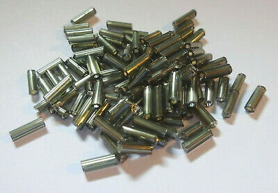 600pcs 20mm Bugle Beads GOLD SILVER LINED Glass Long Tube  D22