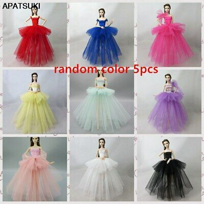 5pcs/lot Fashion Doll Clothes For 1/6 11.5in. Doll Dress Party Dresses Outfits