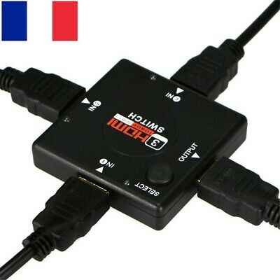 3 Port HDMI Switch Switcher Splitter Hub Box 1080p pour PS3 PS4 Xbox One HDTV