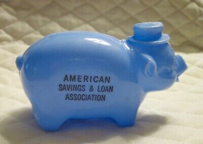 Vintage American Savings & Loan Assoc. Plastic Piggy Bank Advertisement
