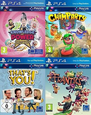 PS4 Playlink Pack Code - Frantics - That's You - Chimparty - Knowledge is Power