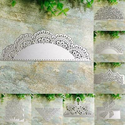 Metal Cutting Dies Cut Die Flowers Lace Border Card Scrapbooking B DIY Card K8N1