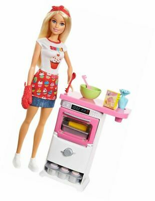 Barbie FHP57 Careers Baking Feature Doll and Playset Colourful Accessories, Blon