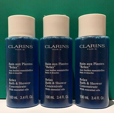 New Clarins Relax Bath & Shower Concentrate With Essential Oils 100ml*3 = 300ml