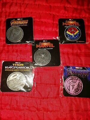 AVENGERS END GAME COINS ( Infinity War, Marvel, Marvel, Endgame (5) collectibles
