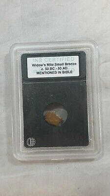 Very Old Ancient Antique Widows Mite Roman Coin, 50bc-50ad mention in bible