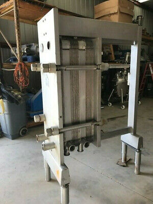 220 Sq.Ft. ALFA LAVAL Stainless Steel Plate Heat Exchanger/Pasteurizer