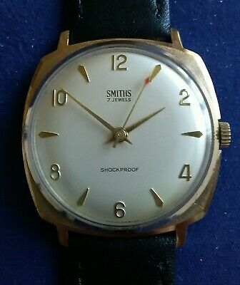 Vintage 1970's Smiths 602 cal. men's gold plated mechanical wristwatch.