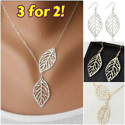 Simple Sun Leaf Wing Charms Pendant Chain Necklace Womens Fashion Jewellery New