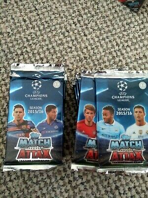 Topps Match Attax Champions League 2015/16 Sealed Packs 47 Cards Total