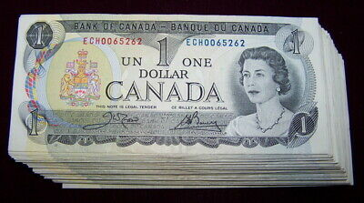 BANK OF CANADA 1973 $1 NOTES  BC-46b  VF to EF, 10 PCS LOT