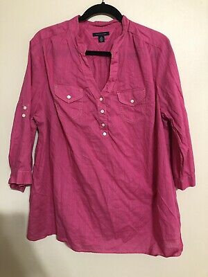 Tommy Hilfiger Womens 1X Pink Plus Size Top