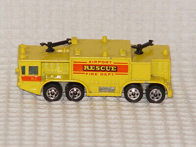Vintage Hot Wheels 1979 Airport Rescue Fire Department Truck B2 Mattel Malaysia