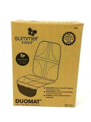 Car Seat Protector By Summer Infant DuoMat Black 2 In 1 Waterproof