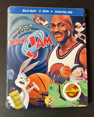 Space Jam [ 20th Anniversary Edition STEELBOOK ] (Blu-ray + DVD) NEW