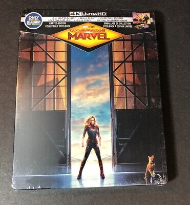 Captain Marvel [ Limited STEELBOOK Edition ] (4k Ultra HD Blu-ray Disc) NEW