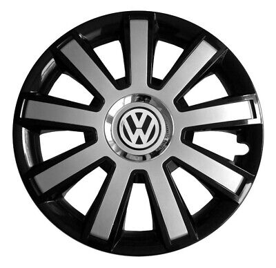 "15"" Wheel trims fit VW Volkswagen Caddy Golf Polo 4 x15 inches silver black"