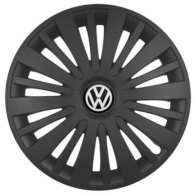 "15"" Wheel trims fit VW Volkswagen Caddy Golf Polo 4 x15 inches black"