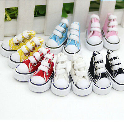 5cm Doll Shoes Denim Canvas Toy Shoes1/6 For Russian  Doll Sneacker JKKH