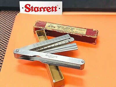Starrett No. 245 Engineer's Combination Taper, Wire and Thickness Gage Leaves.