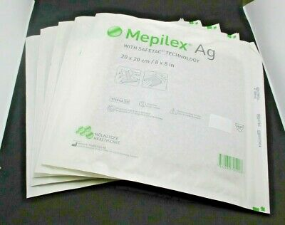 Molnlycke 287400 Mepilex Ag with Safetac Technology Exp 02/20 Lot of 5 NEW