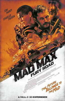 159050 Mad Max 4 Fury Road - Fight Shoot Car US Wall Poster Print AU