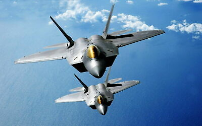 161037 F 22 RAPTORS OVER THE PACIFIC Wall Poster Print AU