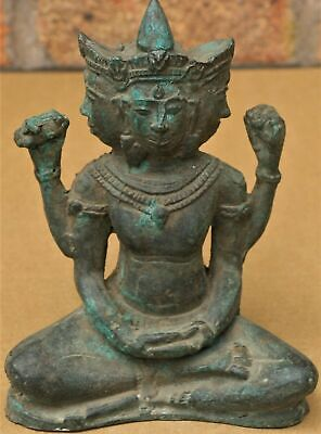 Extremely Old Antique  Raw Bronze Hindu God Sculptures - Possibly Ancient