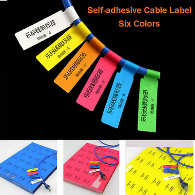 5263ebaf3719 300pcs( 10 Sheets A4) Self-adhesive Cable Labels Identification Markers Tags