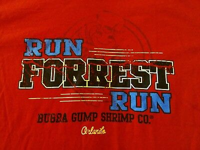 7359c2116b5 Bubba Gump Shrimp Co Run Forrest Run Mens T-shirt Size XL Red Tom Hanks
