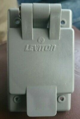 Leviton 5278-FWP 15 Amp, 125 Volt, Power Inlet Receptacle, Straight Blade, NEW