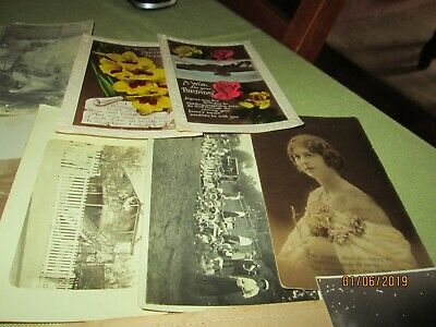 KODAK PHOTO PACKETS with ORIGINAL Antique Postcards & Photos x 12.TRUE VINTAGE.
