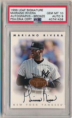 MARIANO RIVERA 1996 Leaf Signature Bronze AUTO PSA 10 GEM MINT NEW YORK YANKEES