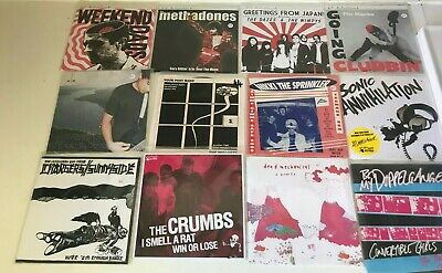 "BULK LOT 12X Punk/Indie/Garage Rock PIC SLEEVE 7"" Vinyl Singles Colour Discs (D)"