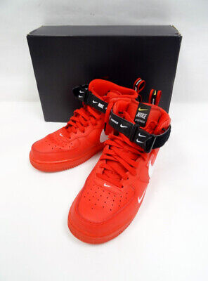 NIKE AIR FORCE 1 Mid Black Red White 306352 063 Men's Shoe