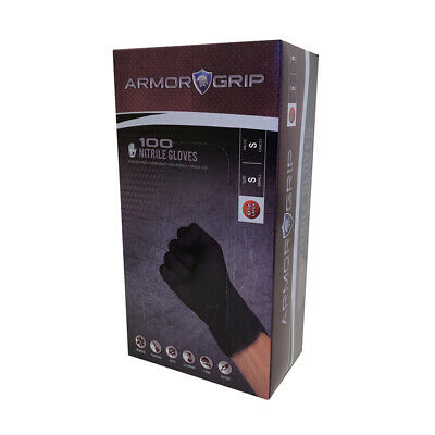 ARMOR GRIP Exam Grade Black NITRILE Disposable Tattoo Gloves 100pcs/Box S,M,L,XL
