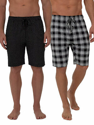 Fruit of the Loom Men's Beyondsoft 2-pack Knit Sleep Shorts Sizes Small, XL, 2XL