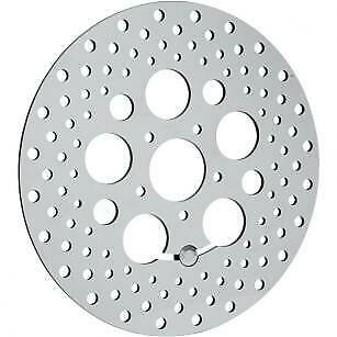 Drag Specialties DS325092 Polished Stainless Steel Drilled Brake Rotor