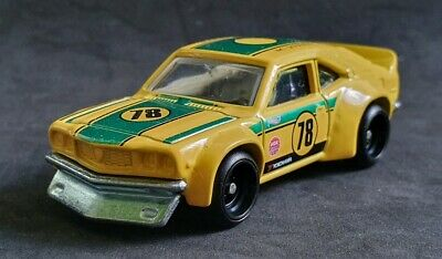 Hot Wheels Car Culture Race Day Mazda Rx3 Yellow Real Riders Loose