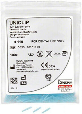 Uniclip Calcinable Dentsply 1 Mm Blue Refill 100 Unidades. Burn-Out Posts.