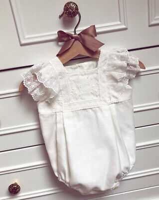 Cotton Newborn Toddler Baby Girls Lace Bodysuit Romper Jumpsuit Outfits Clothes