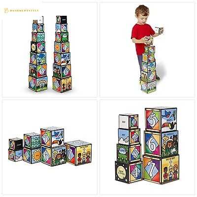 1 Melissa Doug 12782 Deluxe Alphabet Nesting And Stacking
