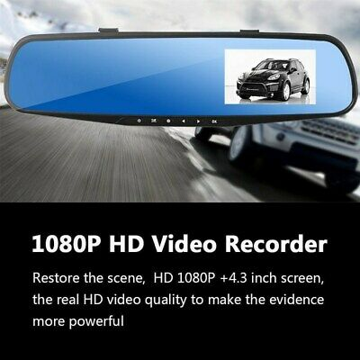 Universal 1080P Car Rearview DVR Dual Dash Cam Camera Front Rear Video Recorder