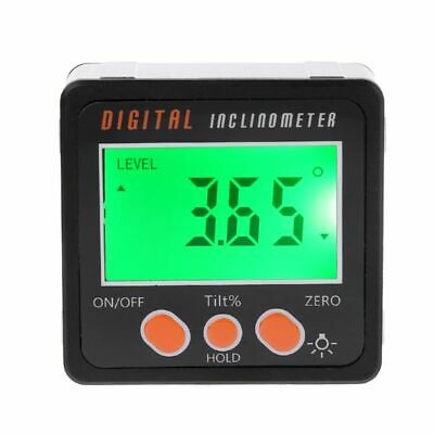 Digital Inclinometer Electronic Protractor Alloy Shell Bevel Box Angle Gauge New