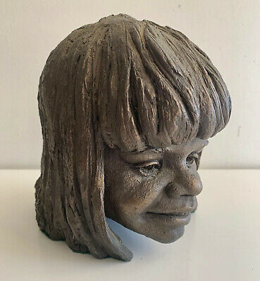 bronze finish Aboriginal girl head Peter Sedcole limited edn 11/100 sculpture