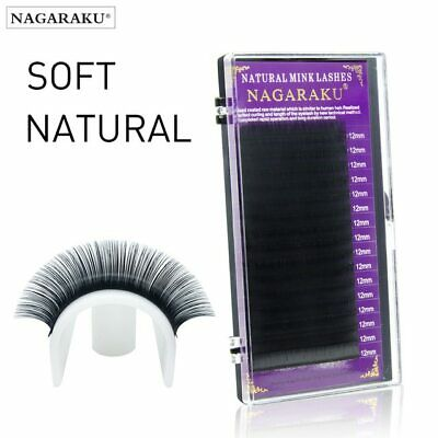 Faux Mink Eyelash Extensions Individual Eyelashes False Fake Natural NAGARAKU