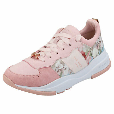 3daf4b8a83043 WOMENS TED BAKER Kulei Pink Leather Suede Trainers Size Uk 6 ...