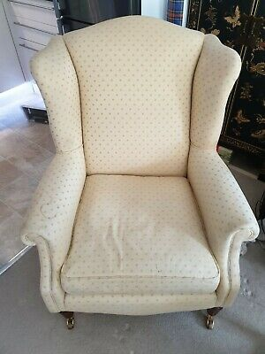 Laura Ashley high back armchair - Star Pattern