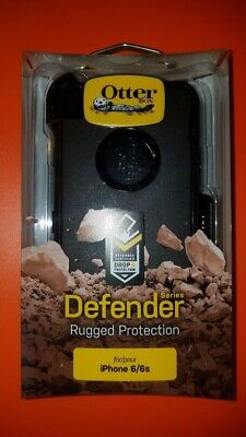 New! OtterBox Defender For Apple iPhone 6 & iPhone 6s Case wClip Black SHIPS NOW