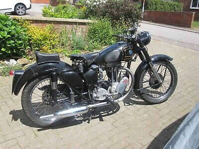 1953 AJS 16MS with sidecar fittings very nice condition intersting history